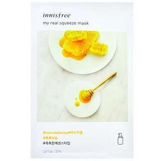 #everything18 3PCS FREE SHIPPING INNISFREE MY REAL SQUEEZE MASK - MANUKA HONEY 20ML X 3PCS