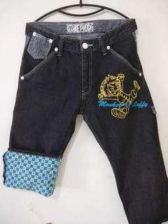 One Piece Denim Pants