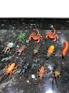 Play Pretend Children Toys Insect Animals Science Project Beetle Bugs Decoration Mini Figurine School