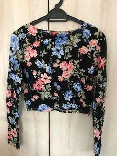 H&M Floral Crop Top