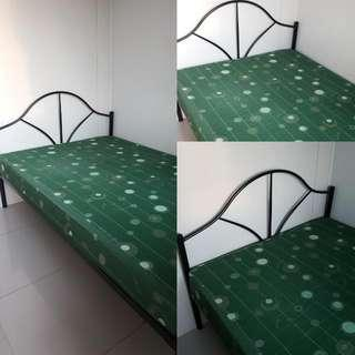 RUSH SALE: Steel Bed with Semi Double Mattress