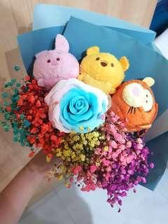 Winnie and friends bouquet set