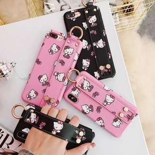 Hello kitty wristband phone case