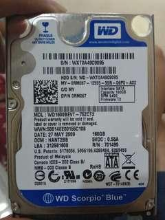 SATA Hard Disk 160GB 5400RPM