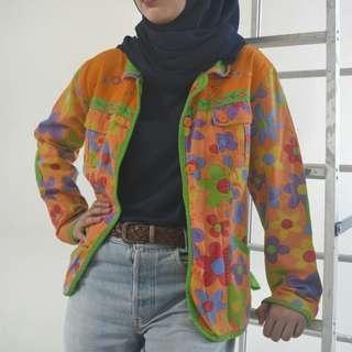 Floral Denim Vintage Jacket