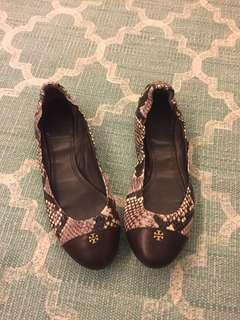 Tory Burch Authentic - Snake skin print Ballerina flat
