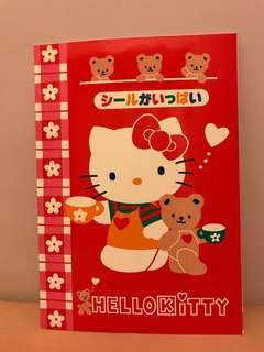 絕版1995年 Sanrio Hello Kitty notebook 單行簿 (內附貼紙彩頁)