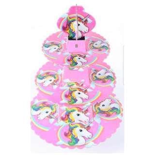 Unicorn 3 Tier Cupcake Stand