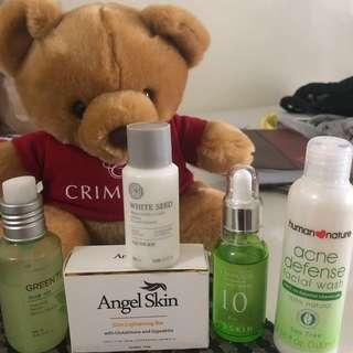 Skincare Bundle - moisturizer, cleanser, whitening soap, serum