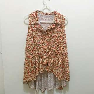 Floral Orange Blouse