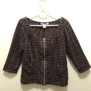 Checkered Blouse (with front zipper)
