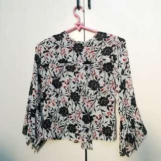 Floral Cover-Up Blouse
