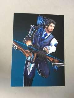 Overwatch Hanzo poster