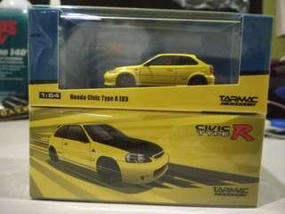 Tarmac SPOON Honda Civic EK9 Type-R yellow Limited Edition