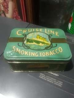 cruise line tobacco tin