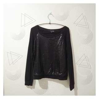 Forever 21 Black Sequin Sweater
