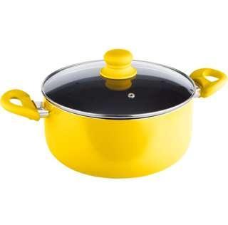 24cm Aluminium saucepan (yellow)