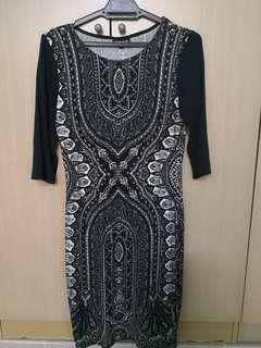 Black & White Tribal Dress