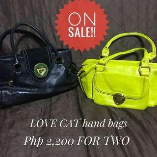 LOVE CAT BAGS on sale!!