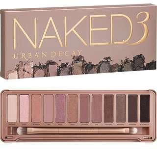 $355 urban decay naked eye palette 3 (12色 眼影盤) 12 color eye shadow