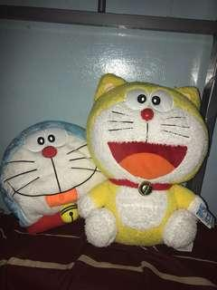 Doraemon Yellow and Doraemon Pillow Bundle