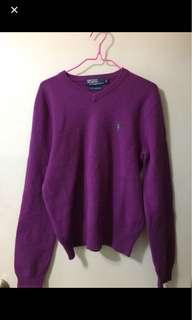 Ralph lauren polo 紫色cashmere 冷衫(size S)
