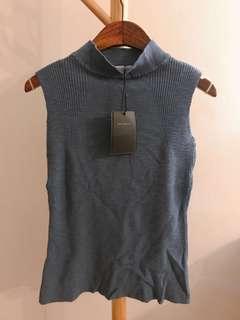 Starmimi blue knit tank top 針織冷背心