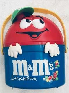 M&M lunch box with canteen