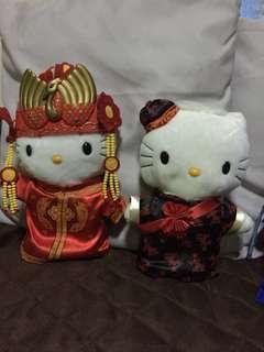 Hello Kitty Chinese Wedding Plushies (from McDonald's circa 2000)
