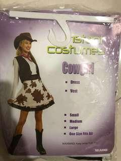 Cowgirl Costume (Adults free size)