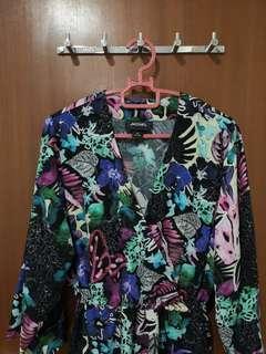 🚚 Monki paradise floral kimono maxi dress