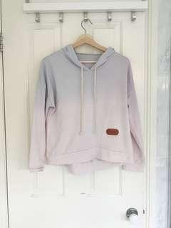 Fade cropped hoodie
