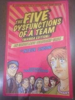 The Five Dysfunctions of a Team : An Illustrated Leadership Fable Manga Edition by Patrick Lencioni (Illustrated by Kensuke Okabayashi)
