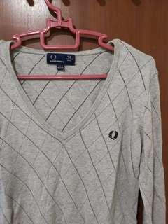 🚚 Fred perry Criss-cross knitted blouse