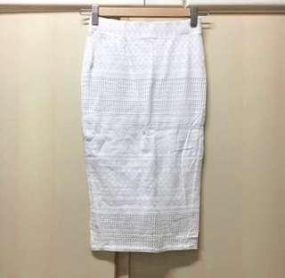 New Miss Selfridge see-through white skirt w32 白色 透視 半身裙