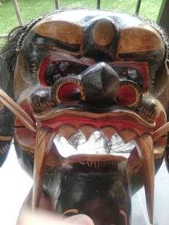 Balinese Barong Wearable Mask Black
