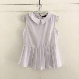 White pleated top nice for office Size Small