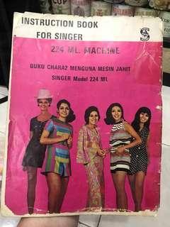 Vintage Singer Instruction Book