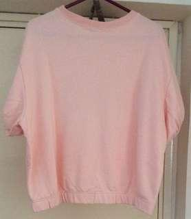 ELF SACK 粉色蝙蝠短袖衫  全新 Size:L碼 165/88A