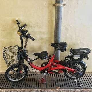 $100 ebike in working condition only body, no batt, back tire need to repair