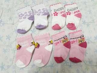 0-6 mos socks for baby girl