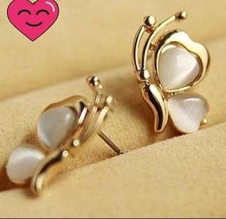 2 pairs Butterfly Earrings.