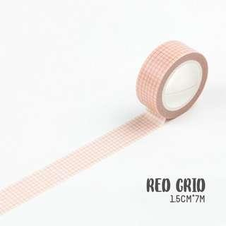 [PO] red grid washi tape