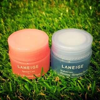 Laneige Trial Lip and  Sleeping Mask