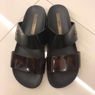 Melissa Cosmic Strap Slide Flat Sandals