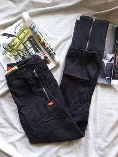 Miss Sixty 黑色 鈄布褲