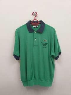 Lacoste short sleeve sweatshirt collar