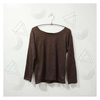 Long Sleeve Top (Brown)