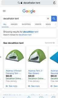Tent decathalon 2 man brand new - pitched once!