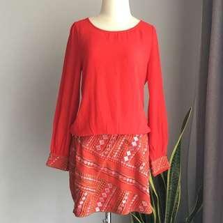 Red Dress aksen bordir